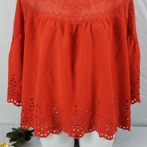 {Jessica Simpson} Red boho blouse
